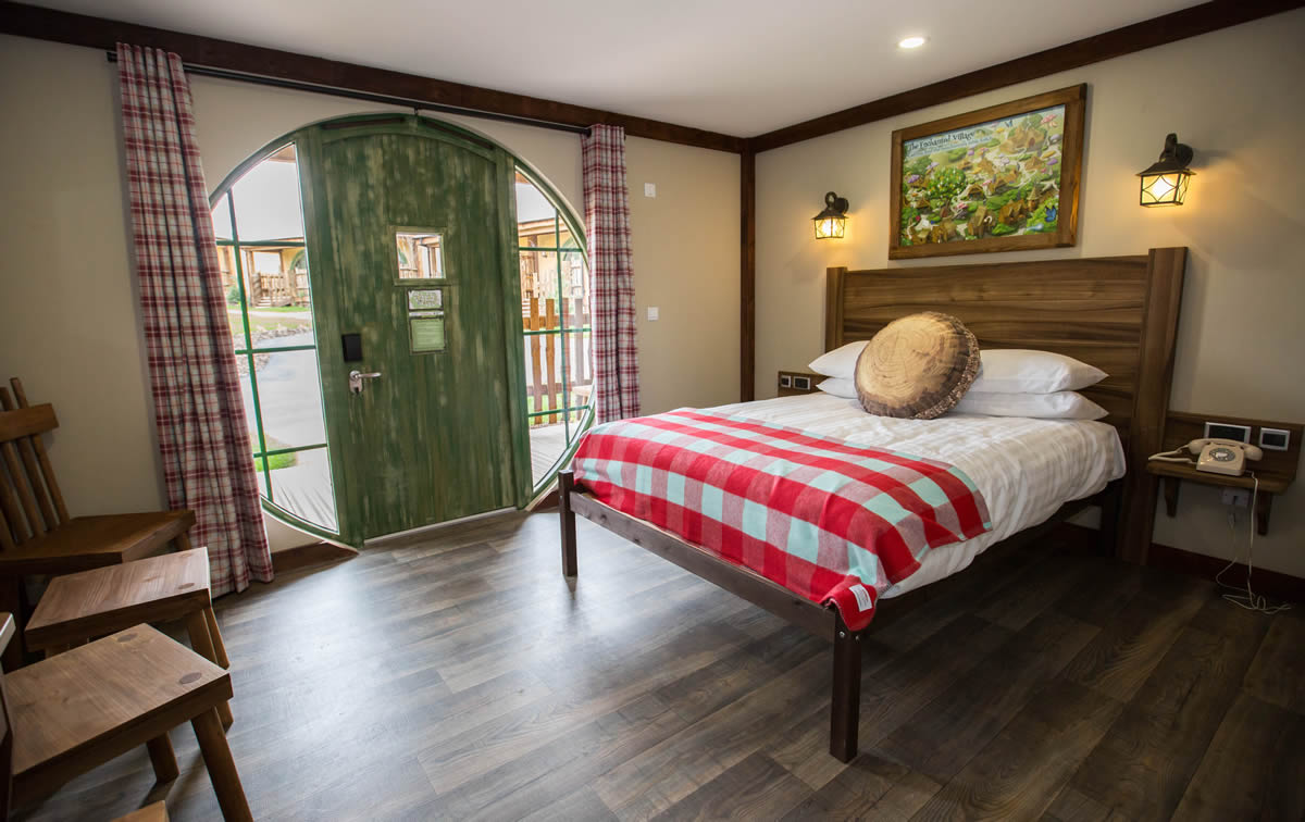 hobbit style self catering accommodation at one of the UK's leading theme parks Alton Towers